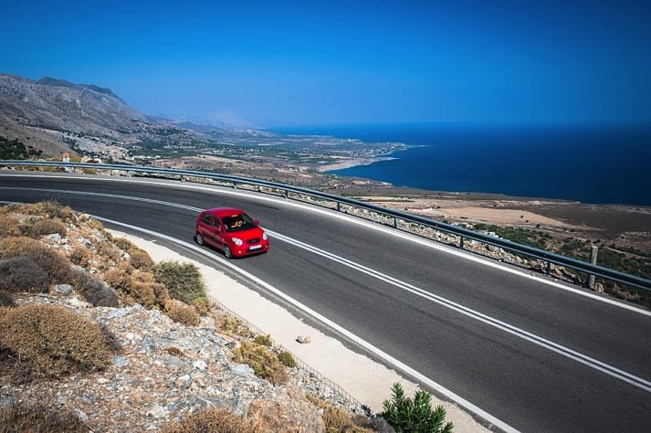 Road of Crete with a car rental