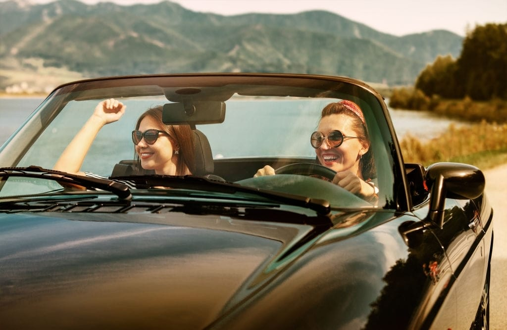 Travel in a convertible