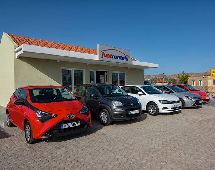 justrentals car hire in chania airport