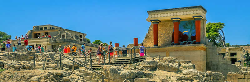 Knossos Palace in Heraklion Crete